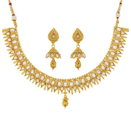 12093 Antique Classic Necklace with gold plating