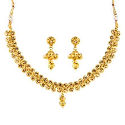 12094 Antique Delicate Necklace with gold plating