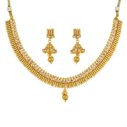 12095 Antique Delicate Necklace with gold plating