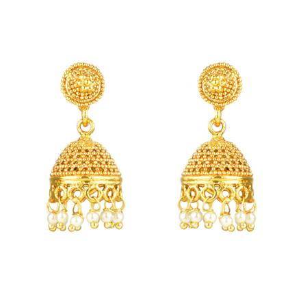 12111 Antique Jhumki with gold plating