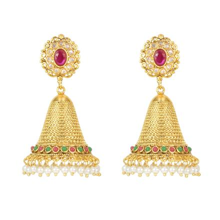 12113 Antique Jhumki with gold plating