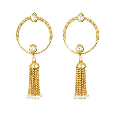 12114 Antique Classic Earring with gold plating