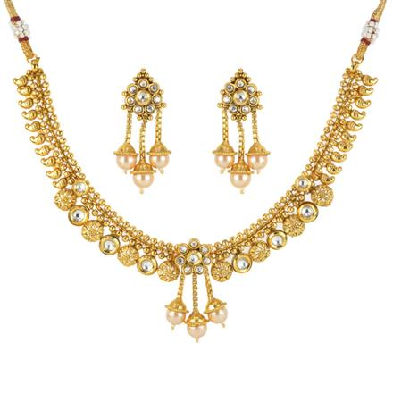 12115 Antique Classic Necklace with gold plating