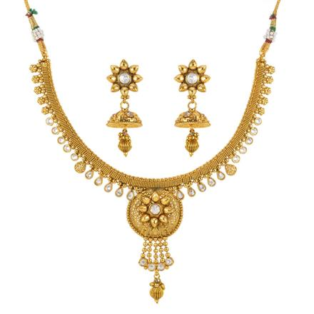 12116 Antique Classic Necklace with gold plating