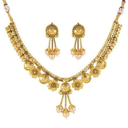12117 Antique Classic Necklace with gold plating