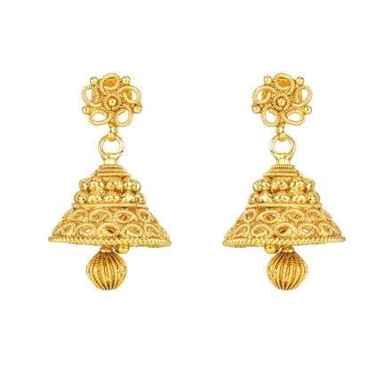 12119 Antique Jhumki with gold plating