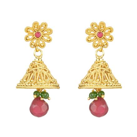 12120 Antique Jhumki with gold plating