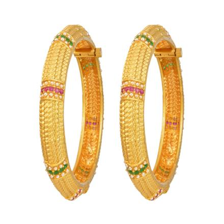 12122 Antique Openable Bangles with gold plating