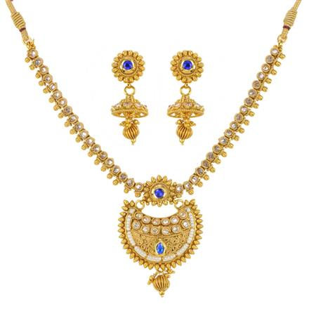 12124 Antique Delicate Necklace with gold plating