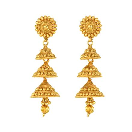 12128 Antique Jhumki with gold plating
