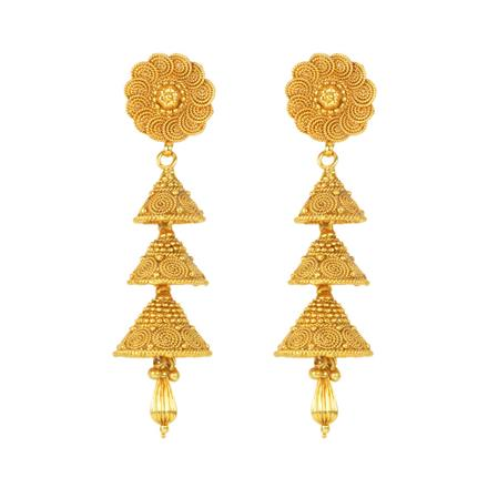 12129 Antique Jhumki with gold plating
