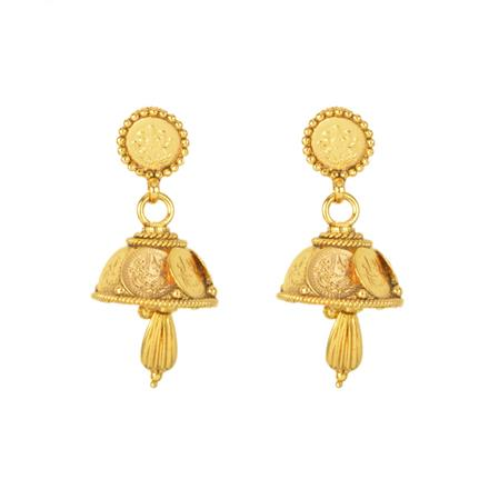 12133 Antique Delicate Earring with gold plating
