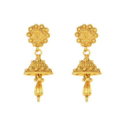 12134 Antique Delicate Earring with gold plating