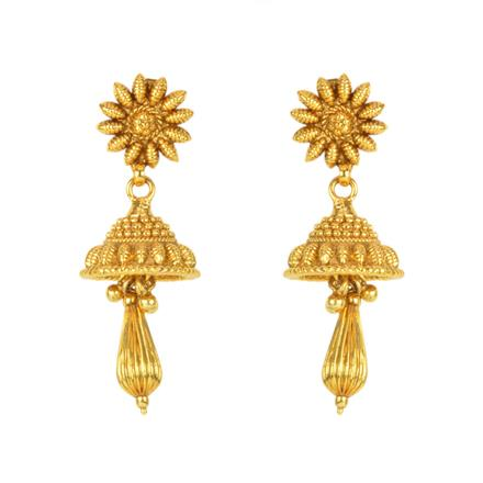 12135 Antique Delicate Earring with gold plating