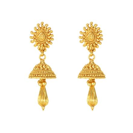 12136 Antique Delicate Earring with gold plating