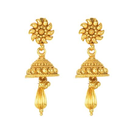 12137 Antique Delicate Earring with gold plating