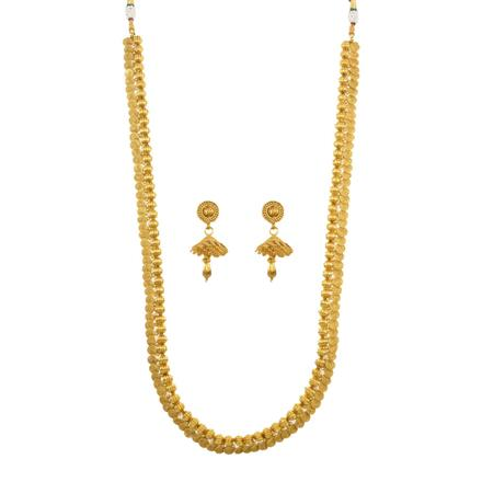 12143 Antique Long Necklace with gold plating