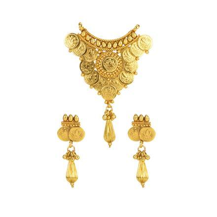 12148 Antique Plain Gold Mangalsutra