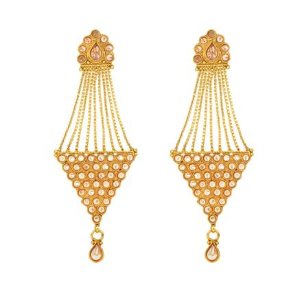 12150 Antique Long Earring with gold plating