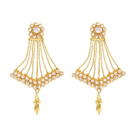 12151 Antique Long Earring with gold plating