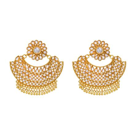 12152 Antique Chand Earring with gold plating