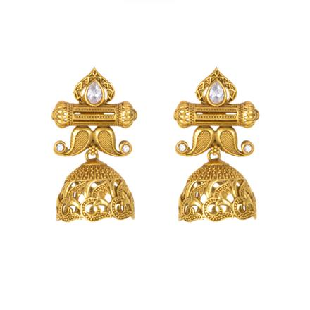12153 Antique Jhumki with gold plating