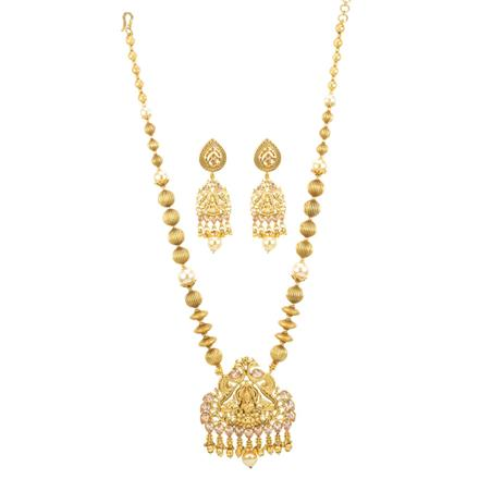 12154 Antique Temple Pendant Set with gold plating