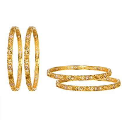 12156 Antique Classic Bangles with gold plating