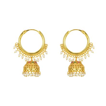 12162 Antique Jhumki with gold plating