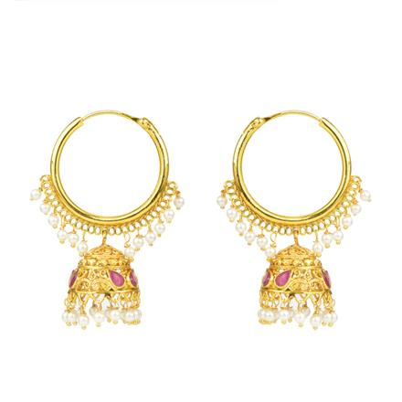 12166 Antique Jhumki with gold plating