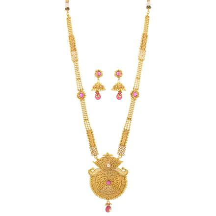 12188 Antique Long Necklace with gold plating