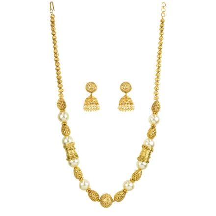 12203 Antique Mala Necklace with gold plating