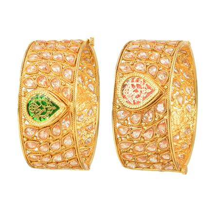 12204 Antique Openable Bangles with gold plating