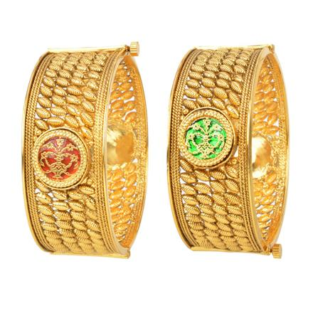 12205 Antique Openable Bangles with gold plating