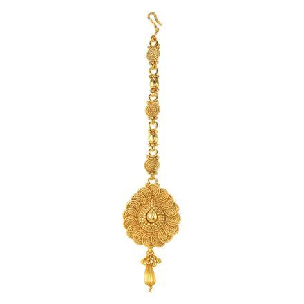 12219 Antique Plain Gold Tikka