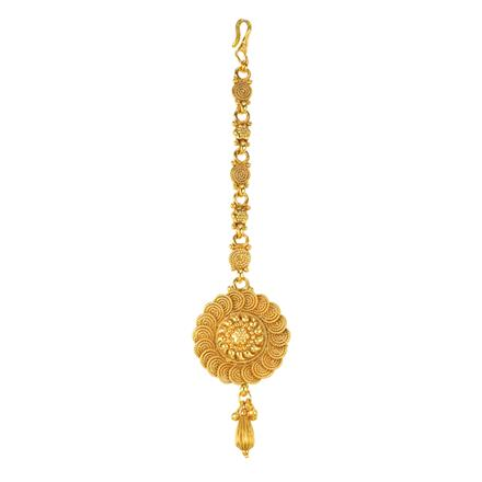 12222 Antique Plain Gold Tikka