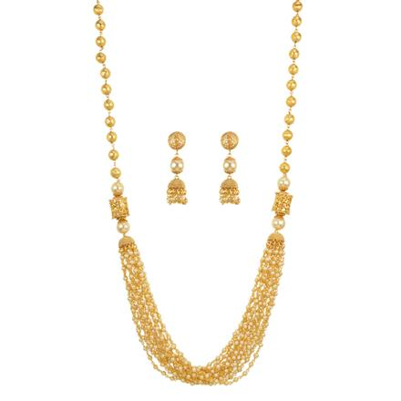 12246 Antique Mala Necklace with gold plating