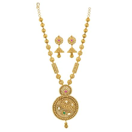 12253 Antique Mala Pendant Set with gold plating
