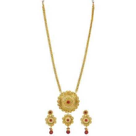 12258 Antique Long Necklace with gold plating