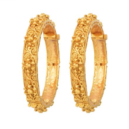 12259 Antique Openable Bangles with gold plating