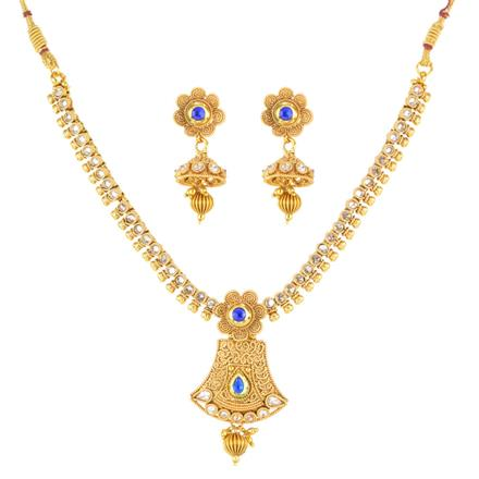 12264 Antique Delicate Necklace with gold plating