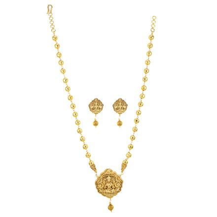 12265 Antique Mala Pendant Set with gold plating