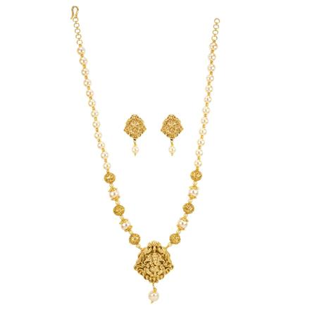 12268 Antique Temple Pendant Set with gold plating