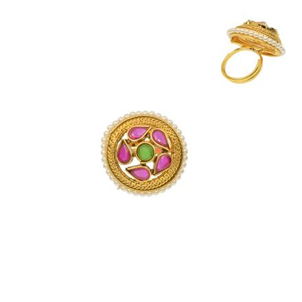 12278 Antique Classic Ring with gold plating
