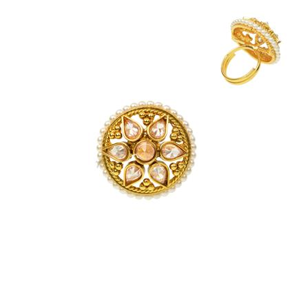 12279 Antique Classic Ring with gold plating