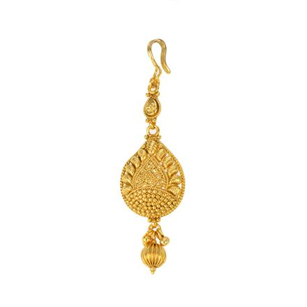 12281 Antique Plain Gold Tikka