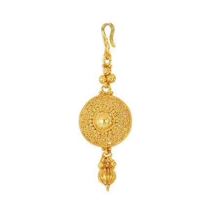 12285 Antique Plain Gold Tikka