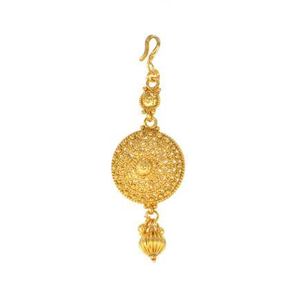 12286 Antique Plain Gold Tikka