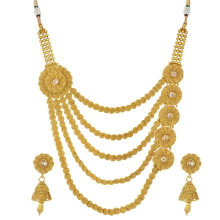 12310 Antique Plain Gold Necklace