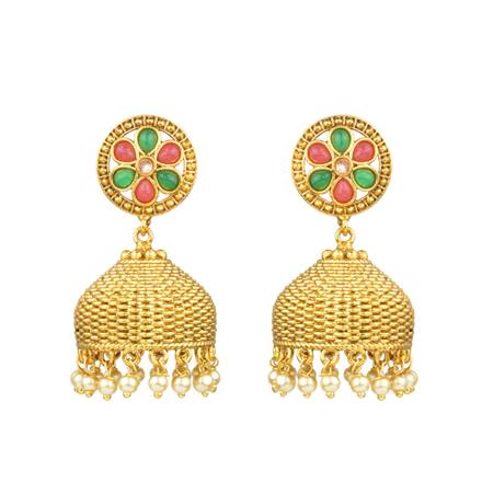 12318 Antique Jhumki with gold plating
